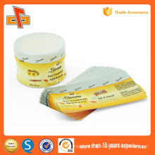 Частные заказные пластиковые печатные ПВХ PETShrink этикетки рукава наклейки для варенья и бутылки