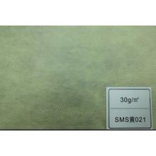 Tecido de SMS (amarelo 35GSM)