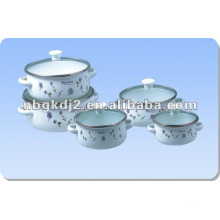 enamel casserole with glass lid