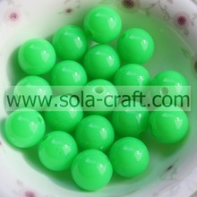 2014 New Design Girl Green 6mm Round Spacer Charm Fluorescent Beads With 1.1MM Hole