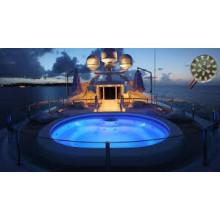 CC 12V llevó la lámpara decorativa ligera IP67 18PCS 5730 para el barco / el yate
