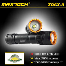 Maxtoch ZO6X-3 ajustable Cree T6 900LM linterna Cree Zoom