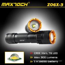 Maxtoch ZO6X-3 регулируемые Cree T6 900LM фонарик Кри зум