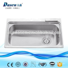 DS8050 japan siphon stainless steel kitchen sink with tray
