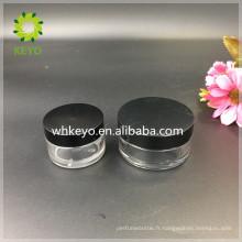 20g Meilleure vente clair en plastique vide pot en plastique cosmétique