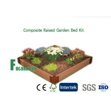 """WPC Composite levantó jardín cama Kit de jardinera 42 """"X 84"""" X 8"""" para el cultivo de verduras saludables"""
