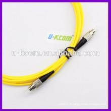 Cordon de raccordement OM3 FC à FC 3m Simplex SM Fiber Optic