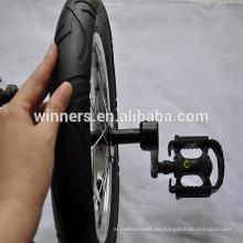 Rueda individual monociclo de 12 pulgadas con bielas y pedales