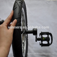 Roda de solo monociclo de 12 polegadas com manivelas e pedais