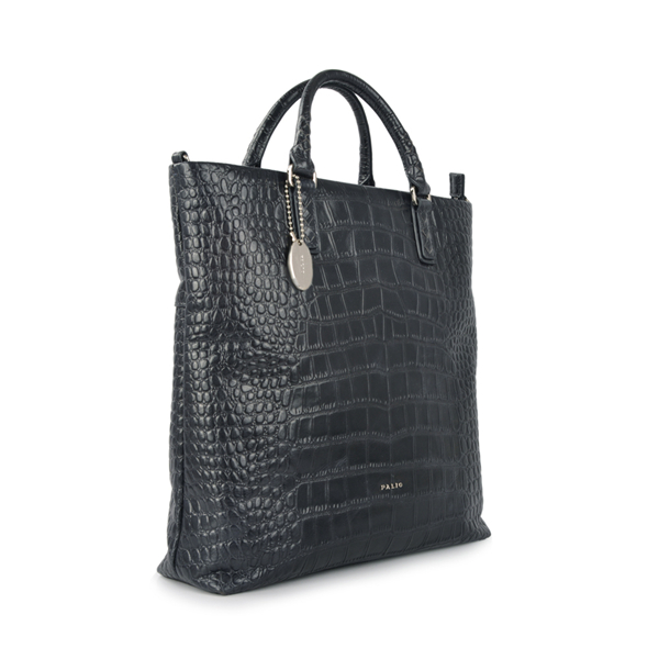 cross-section croc leather briefcase women