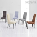 Luxury fabric high back leather dining chair made in China