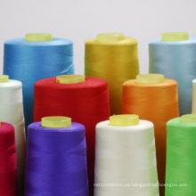 Hilo de coser de poliéster 100% hilado de alta tenacidad