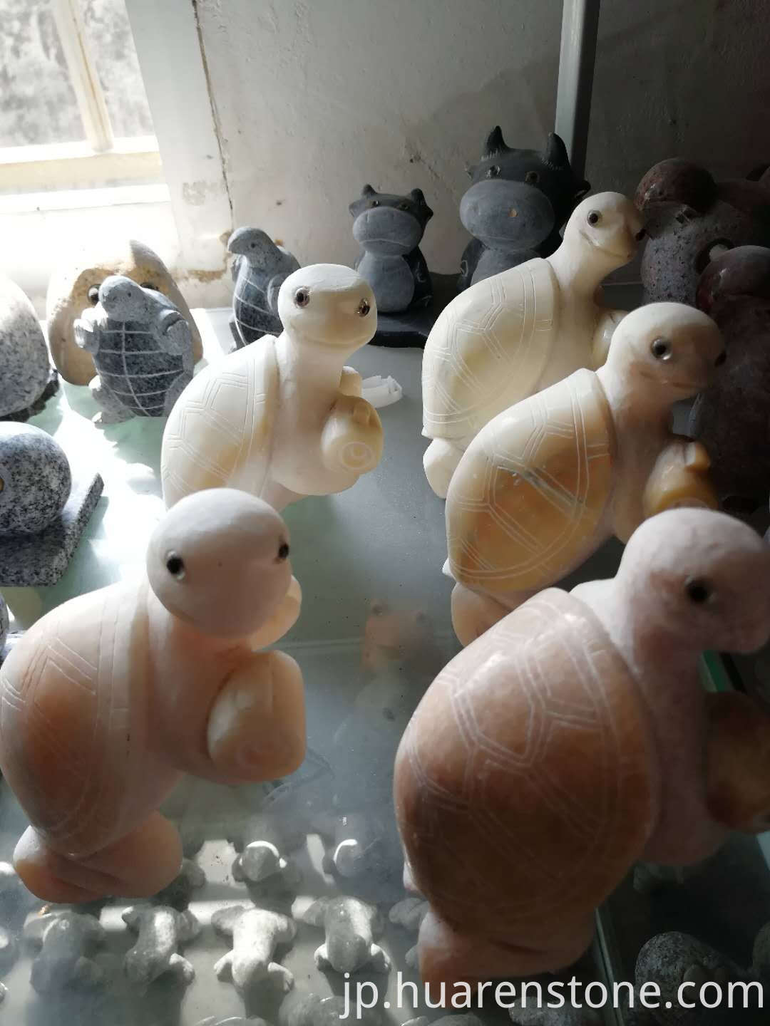 stone turtle figurines