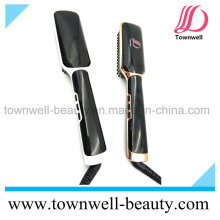 LCD Salon Hair Styling Tools Ceramic Flat Iron Brush Professional