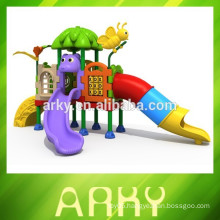 2015 New arrive outdoor play sets kids plastic slide equipment garden playground park slide