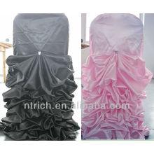 encantadora pano de tampa e mesa cadeira babados cetim para casamento, novo estilo cadeira tampa e mesa pano