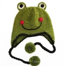 El sombrero de la gorrita tejida de los niños del príncipe sonrisa de la rana (XT-CB002)