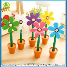 fábrica de la pluma de 2015 hangzhou caliente vender bolígrafo flores de plástico para niños