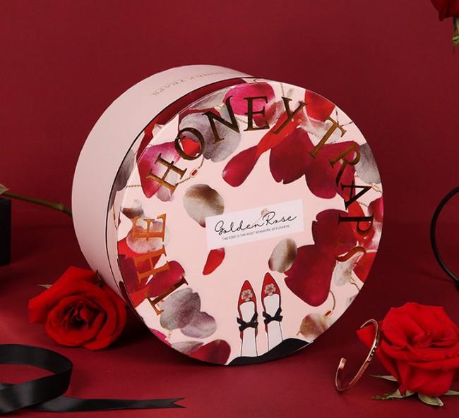 Rose Round Paper Box