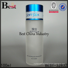 China beautiful cosmetic frosted cosmetic glass lotion bottle