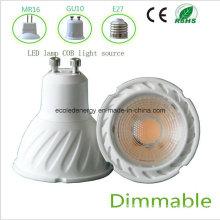 High Qiality Dimmable 5W GU10 COB LED Light