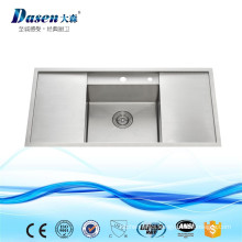 Classic Design Double Drain Board Stainless Steel Garden Kitchen Sinks With Silicone Strainer