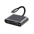 Adaptador HUB PARA HDMI VGA do Carregador USB3.0 Tipo-C
