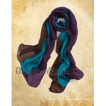 Hand painted fashion gradient silk shawl