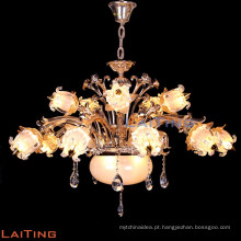 Candelabro de cristal antigo da vela do ferro do estilo europeu do ouro 88652