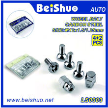 4 + 2PCS Torx Wheel Bolt avec Chrome Surface