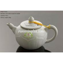 Celadon Ru Pot de chá Pot Lua Branco 235cc