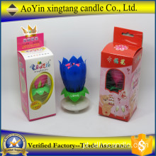 Popular Fireworks Lotus Roaming Birthday Music Candle