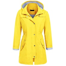 Womens Lightweight Hooded Waterproof Rain Jacket