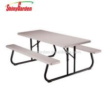 Plegables de alta calidad con bancos mesa de picnic de plástico