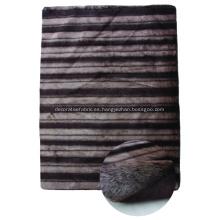 Faux Fur Shagy Alfombra con diseño