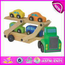 Holzspielzeug Car Carrier für Kinder, Sicherheit Lustige Holz Mini Car Collection Spielzeug für Kinder, Niedlichen Holz Auto Spielzeug für Baby W04A082