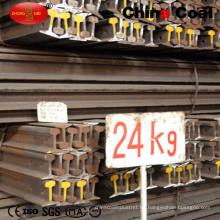 Carril ligero de acero del carril 55q Q235 estándar del ferrocarril 24kg