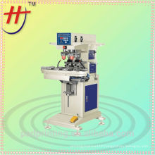 Semi Automatic Easy Pad Printer for toys, pcb , plastic, leather , pneumatic 2 colors in cup pad printing machine with conveyor