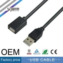 Cable de extensión del usb de la venta al por mayor de SIPU cable de usb del varón a la hembra de la alta calidad el mejor precio del usb del cable de datos