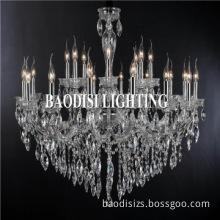2014 baodisi candle crystal led steel chandelier lighting fixture