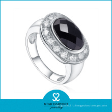 Стильное серебряное кольцо с большим камнем для женщины (SH-R0526)