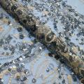 Dunkle Pailletten Perlen Stickerei Spitze