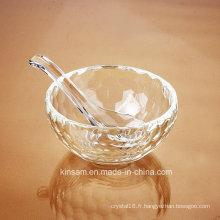 Artisanat de bol de riz en verre de cristal de mode pour la vaisselle