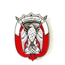 UAE Logo Flag Color Falcon Metal Emblem