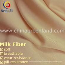 Micro fibre 95% polyester 5% Spandex pêche tissu pour le textile de vêtement (GLLML232)
