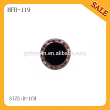 MFB119 botones de presión de broche de perla de metal personalizado / botón de resorte para pantalones vaqueros