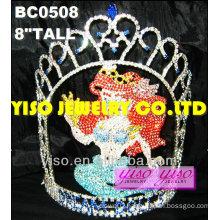 mermaid crystal pageant tiaras