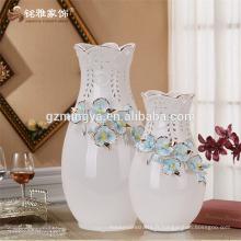 2016 pièces de décoration maison vente chaude plancher en céramique artisanat en gros fleur en émail fleur vase en céramique
