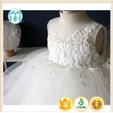 Dernière conception enfants vêtements dentelle robe de mariée robe de soirée pour les filles portent