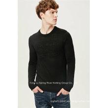 De acrílico de lana en relieve de punto de hombres suéter